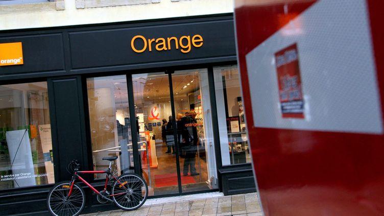 Une boutique Orange de Thionville (Moselle), le 2 février 2011. (MAXPPP)
