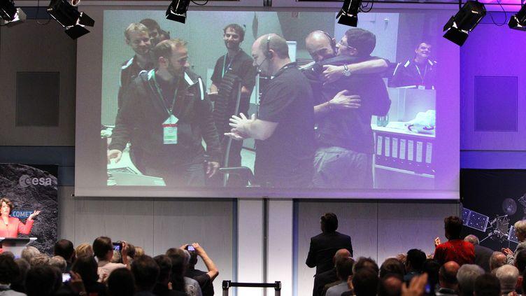L'Agence Spatiale Européenne le 30 septembre 2016 (DANIEL ROLAND / AFP)