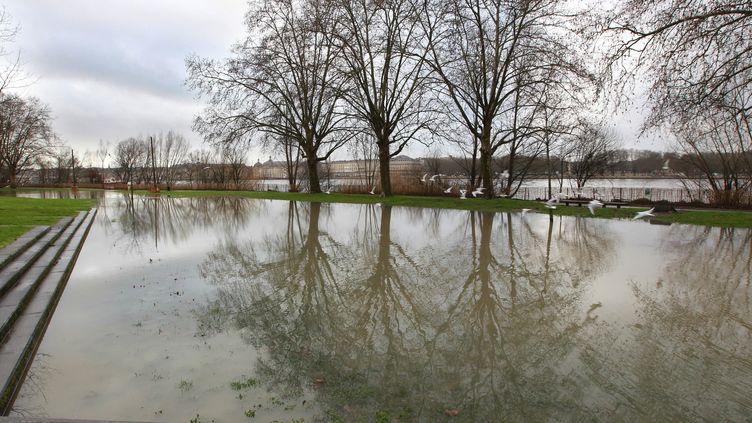 La Garonne en crue, à Bordeaux (Gironde), le 11 février 2016. (MAXPPP)