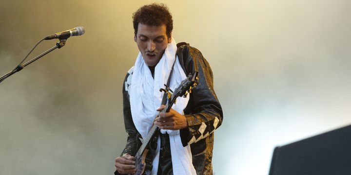 Le guitariste chanteur du groupe touareg Bombino à Rock en Seine  (Gilles Scarella / Studio FTV)