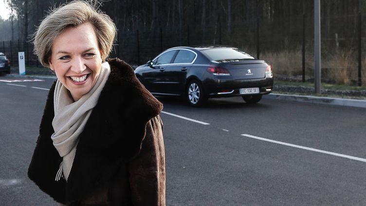 """Virginie Calmels,conseillère au sein du """"pôle société civile"""" de la campagne de François Fillon, le 25 janvier 2016 lors d'une visite du candidat à Bordeaux (Gironde). (MAXPPP)"""