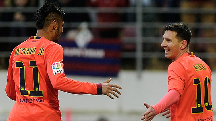 Neymar et Messi, les deux stars du Barça