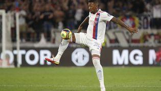Jérome Boateng lors du match de Ligue 1 entre l'OL et le RC Strasbourg, le 12 septembre 2021. (ROMAIN BIARD / AFP)