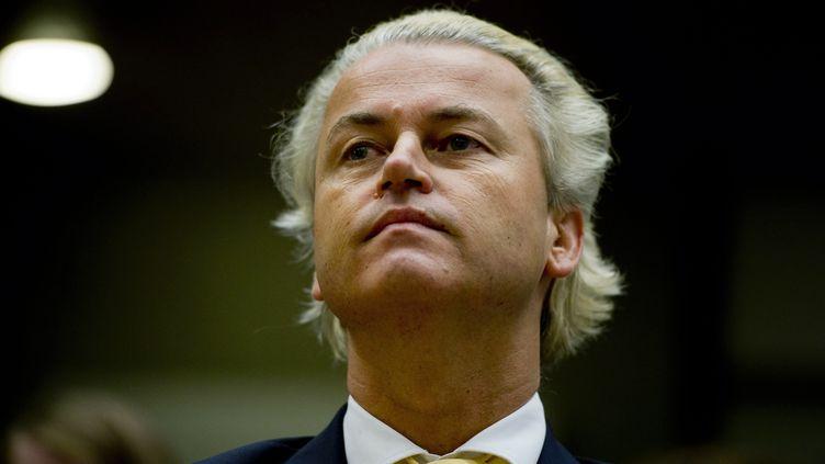 Geert Wilders, chef de file du Parti pour la Liberté (extrême droite), à Amsterdam (Pays-Bas), le 23 juin 2011. Son parti a provoqué la chute du gouvernement, lundi. (ROBIN UTRECHT / ANP / AFP)