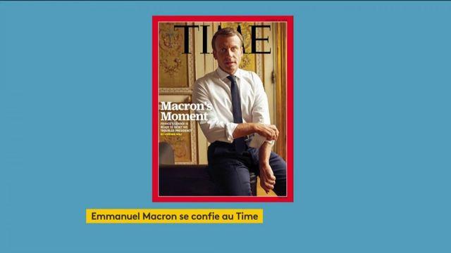 Emmanuel Macron se confie au Time