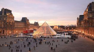 La pyramide du Louvre (janvier 2015)  (Olivier Boitet / Le Parisien / PhotoPQR / MAXPPP)