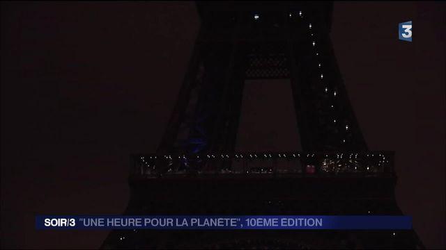 """Environnement : la tour Eiffel s'éteind une heure """"pour la planète"""""""