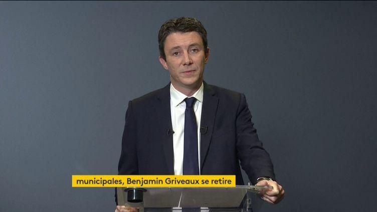 L'ancien candidat à la mairie de Paris, Benjamin Griveaux, le 14 février 2020. (FRANCEINFO)