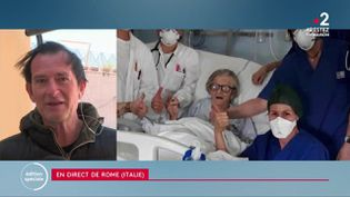 Si la situation reste dramatique en Italie, une belle histoire est néanmoins survenue. Une patiente de 95 ans est en effet guérie du Covid-19, dans la ville de Modène. (France 2)
