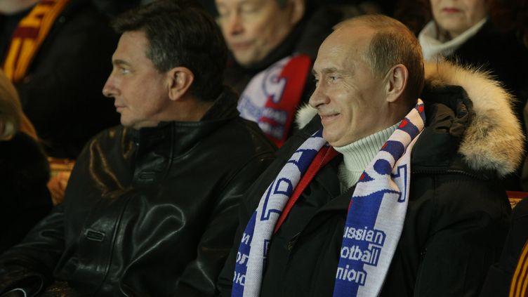 Vladimir Poutine pendant un match de la Russie, en 2010. (ALEKSEY NIKOLSKYI / RIA NOVOSTI)