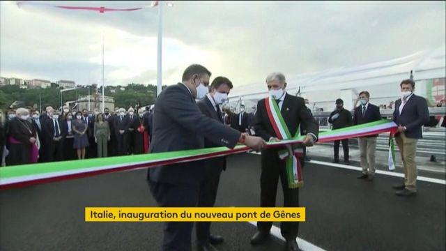 Italie : inauguration du nouveau pont de Gêneso
