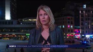 Stéphanie Perez, l'envoyée spéciale de FranceTélévisions en Turquie. (FRANCE 3)