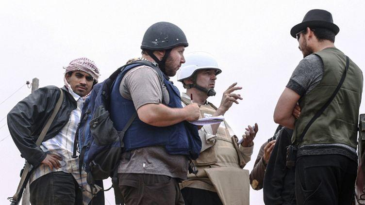 (Steven Sotloff (au centre) aurait été assassiné par l'État islamique © HANDOUT / GETTY IMAGES EUROPE / GETTY IMAGES/AFP)