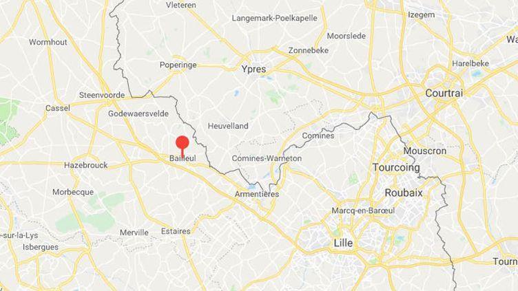 Capture d'écran. (GOOGLE MAPS / FRANCEINFO)