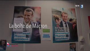 La boite de Macron (CAPTURE D'ÉCRAN FRANCE 3)