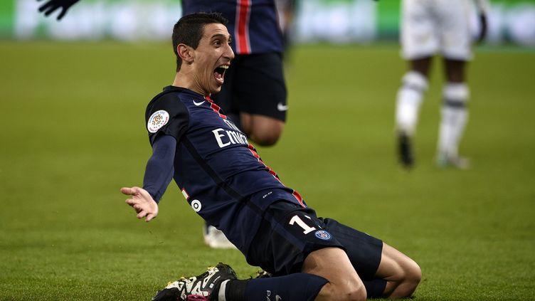 Angel Di Maria (PSG) a signé un doublé face à Angers (FRANCK FIFE / AFP)