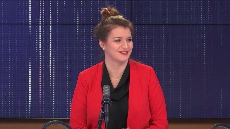 Marlène Schiappa,ministre déléguée auprès du ministre de l'Intérieur, chargée de la Citoyenneté, dimanche 14 mars 2021 sur franceinfo. (FRANCEINFO / RADIOFRANCE)