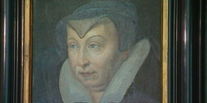 Portrait de Catherine de Médicis. Toile présente au Château de Blois.  (France 3 / Culturebox)
