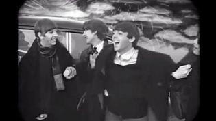 """Les Beatles dans le clip de """"Words of Love"""" 2013  (Saisie écran)"""