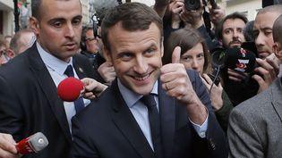 Emmanuel Macron, le 13 mars 2017 à Paris. (FRANCOIS MORI/AP/SIPA / AP)