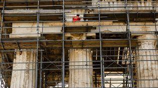 L'Acropole en travaux  (Daniel Ochoa de Olza / AP / SIPA)