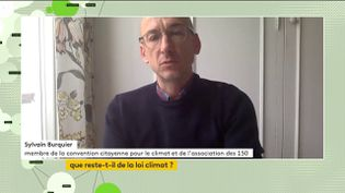 Un membre de la Convention citoyenne s'exprime au sujet de la loi Climat. (FRANCEINFO)