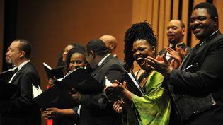 The American Spiritual Ensemble dirigé par Everett Mc Corvey  (Frank Perry/AFP)