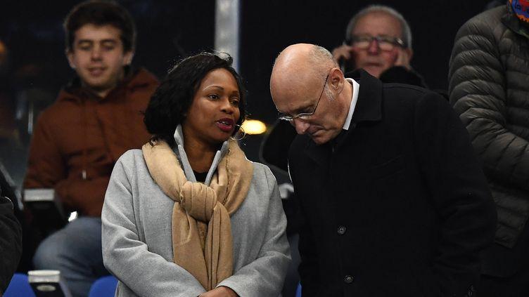 La Ministre des Sports Laura Flessel et le président de la FFR Bernard Laporte