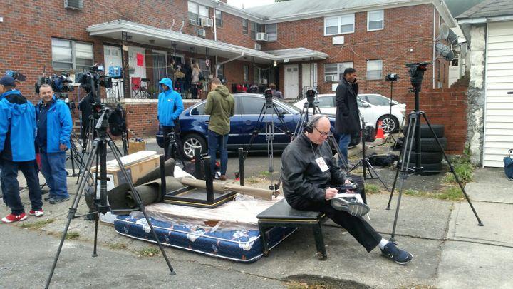 De nombreux médias ont envoyé leurs journalistes à Paterson. (BENJAMIN ILLY / RADIO FRANCE)