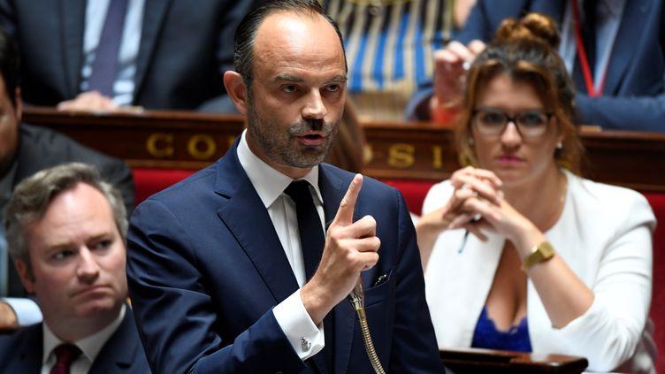Le Premier ministre, Edouard Philippe, s'adresse aux députés à l'Assemblée nationale, à Paris, le 24 juillet 2018. (BERTRAND GUAY / AFP)