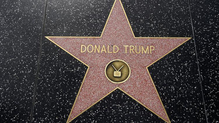 L'étoile de Donald Trump, sur Hollywood Boulevard (Californie, Etats-Unis), le 10 septembre 2015. (ROBYN BECK / AFP)