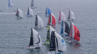Les marins ont pris la mer une première fois lors du prologue, dimanche 9 mai 2021. (ALEXIS COURCOUX)