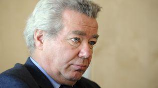 Didier Chenet, président du Groupement national des indépendants de l'hôtellerie et de la restauration (GNI), le 15 décembre 2009 à Paris. (BERTRAND GUAY / AFP)