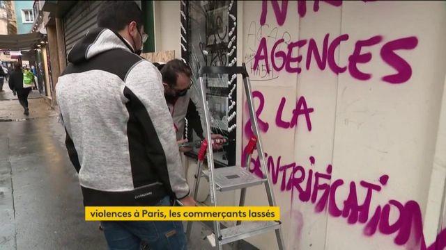 violences à paris : les commerçants excédés