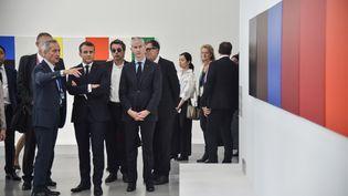Le président français Emmanuel Macron à l'inauguration du Centre Pompidou de Shanghaï, le 5 novembre 2019 (HECTOR RETAMAL / POOL / AFP POOL)