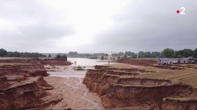 Inondations : des paysages bouleversés par les violentes intempéries