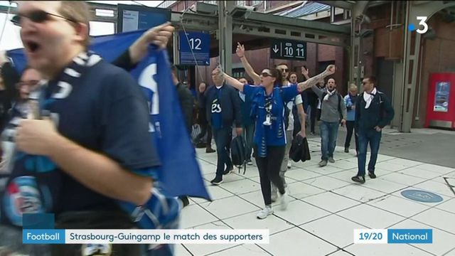 Football : Strasbourg-Guingamp, le match des supporters