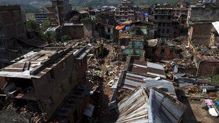 Un quartier de Sankhu, dans la banlieue de Katmandou (Népal), le 11 mai 2015. (ATHIT PERAWONGMETHA / REUTERS)