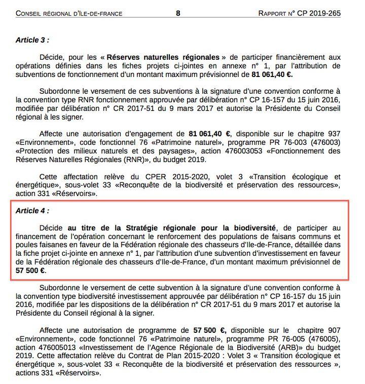 Capture d'écran d'un document de la région Ile-de-France. (DR)