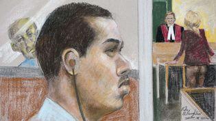 Luka Magnotta comparaît pour le meurtre de Jun Lin, à Montréal (Canada), le 8 septembre 2014. (MIKE MCLAUGHLIN / AP/ SIPA)