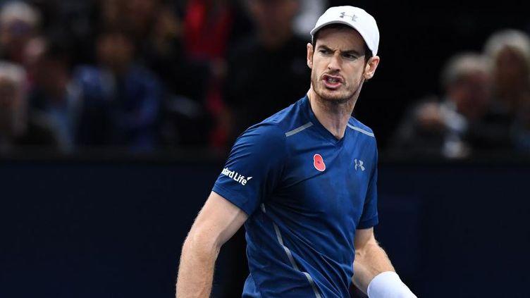 Le Britannique Andy Murray, le 6 novembre 2016 à Paris. (FRANCK FIFE / AFP)