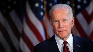Joe Biden lors d'une conférence de presse à New York(Etats-Unis), le 7 janvier 2020. (REUTERS / FRANCEINFO)