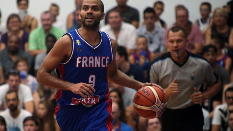 Tony Parker le leader de l'équipe de France  (CHIBANE / MAXPPP)
