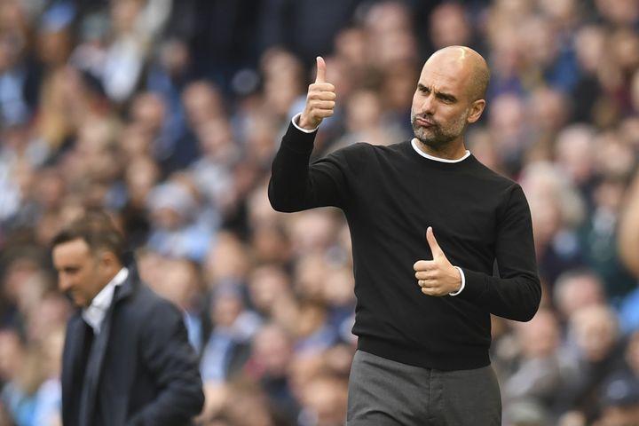 Pep Guardiola (Manchester City). (PAUL ELLIS / AFP)