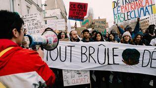 L'Union national lycéenneappelle les élèves à suivre la grève pour le climat ce vendredi 15 mars. (BENOIT DURAND / HANS LUCAS)