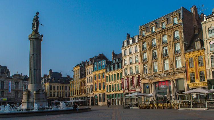 La Grand Place de Lille le 12 octobre 2017.  (Stéphane Frances / AFP)