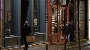 Dans les rues de Lyon, le jeudi 14 janvier 2021. (MAXIME JEGAT / MAXPPP)