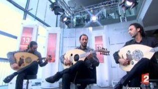 """Le Trio Joubran, invité des """"Cinq dernières minutes"""" sur France 2  (Culturebox)"""