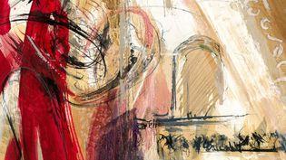 Fragment de l'affiche des Chorégies d'Orange 2014  (Nathalie Verdier)