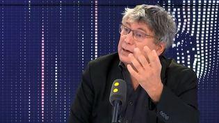 Éric Coquerel, député LFI de Seine Saint-Denis, invité de franceinfo lundi23 décembre. (FRANCEINFO / RADIOFRANCE)